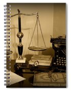 Lawyer - The Lawyer's Desk In Black And White Spiral Notebook