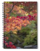 Layers Of Autumn Red Spiral Notebook