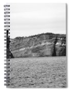 Layers Of Bedrock Spiral Notebook