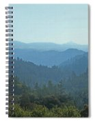 Layers Of Forest And Bllue Sky Spiral Notebook