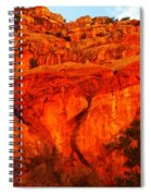 Layers Of Orange Rock Spiral Notebook