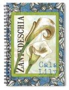 Lazy Daisy Lily 1 Spiral Notebook