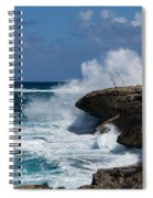 Lazy Fishing From The Rocks - No Fishermen Spiral Notebook