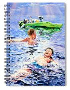 Lazy Hazy Crazy Days Spiral Notebook
