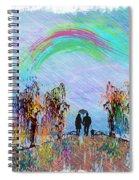 Lazy Hazy Rainy Day Spiral Notebook