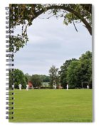 Lazy Sunday Afternoon - Cricket On The Village Green Spiral Notebook
