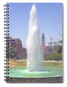 L B J Library Fountain Spiral Notebook