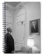 Lbj Looking At Fdr Spiral Notebook