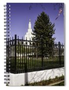Lds Idaho Falls Temple Spiral Notebook