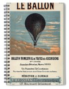 Le Ballon Advertising For French Aeronautical Journal Spiral Notebook