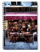 Le Marmiton De Lutece Paris France Spiral Notebook