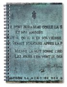 Le Pont Mirabeau Spiral Notebook