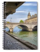 Le Pont Napoleon Paris Spiral Notebook