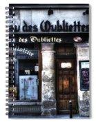Le Taveau Des Oubliettes Paris France Spiral Notebook