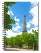 Le Tour Eiffel Spiral Notebook