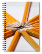 Lead Pencils Isolated On White Spiral Notebook