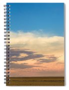 Leading Edge Storm Front And Moon Panorama Spiral Notebook