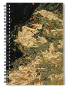 Leaf Abstract Ode To Klimt Spiral Notebook