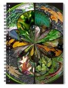 Leaf Collage Orb Spiral Notebook