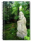 Leafy Path And Statuary Abby Aldrich Garden Spiral Notebook