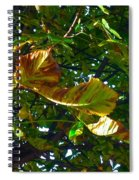 Leafy Tree Image Spiral Notebook