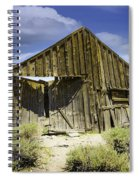 Leaning Barn Of Bodie California Spiral Notebook