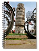 Leaning Bicycles Of Pisa Spiral Notebook