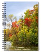 Leaning Into Autumn Spiral Notebook