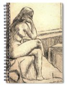 Leaning Into The Day Spiral Notebook