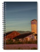 Leaning Silo  Spiral Notebook