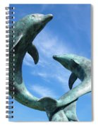 Leaping Dolphins In The Isles Of Scilly Spiral Notebook