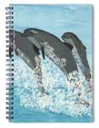 Leaping Dolphins Spiral Notebook