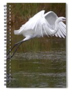 Leaping Egret Spiral Notebook