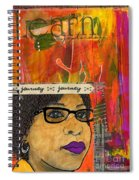 Learning From Yesterday - Journal Art Spiral Notebook