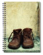 Leather Children Boots Spiral Notebook