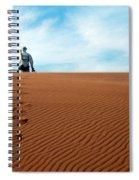 Leave Only Footprints Behind.. Spiral Notebook