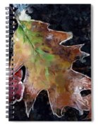 Leaves And Frost Spiral Notebook
