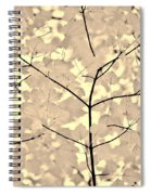 Leaves Fade To Beige Melody Spiral Notebook