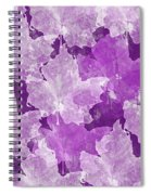 Leaves In Radiant Orchid Spiral Notebook