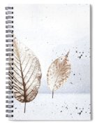 Leaves In Snow Spiral Notebook