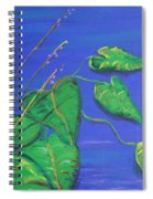 Leaves In The Wind Spiral Notebook