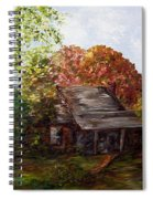 Leaves On The Cabin Roof Spiral Notebook