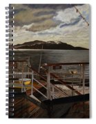 Leaving Queen Charlotte Sound Spiral Notebook