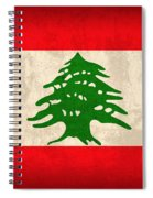 Lebanon Flag Vintage Distressed Finish Spiral Notebook