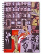 Led Zeppelin  Collage Number Two Spiral Notebook