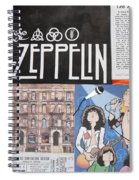 Led Zeppelin Past Times Spiral Notebook