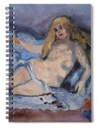 Leda And The Swan By Cezanne Spiral Notebook