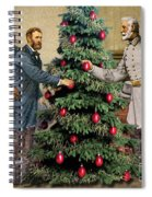 Lee And Grant At Appomattox Spiral Notebook