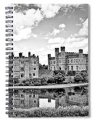 Leeds Castle Black And White Spiral Notebook
