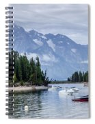 Leeks Marina In The Grand Tetons -  Spiral Notebook